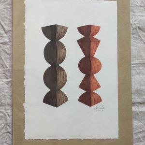 坂本千明紙版画:工房イサドオブジェ