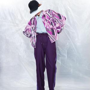 Line track pants #Purple