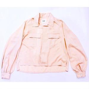 <LANTIKI Exclusive items.>Open-necked shirt - linen styles #Beige