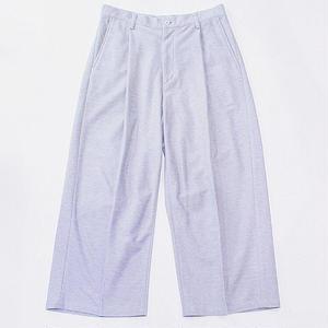 Tuck pants - knit twill