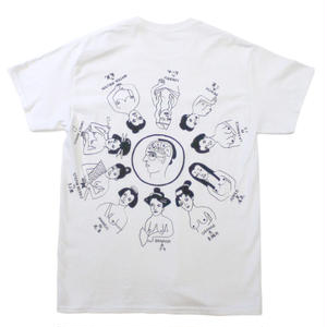 """Oiran"" front pocket T-shirts  #white - by SHUNTAROU TAKEUCHI × RYUHEI KOBOSHI"