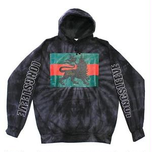 """LION"" Hooded parka - tie dye #Black"