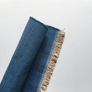 Jute Cotton Indigo Rug - 60×90cm