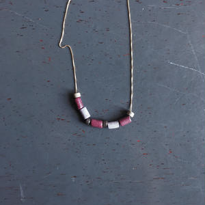 EGRET - Land necklace (Plum)