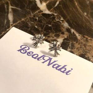【silver】 cross  pierce