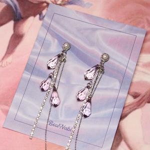 vintage crystal pierce