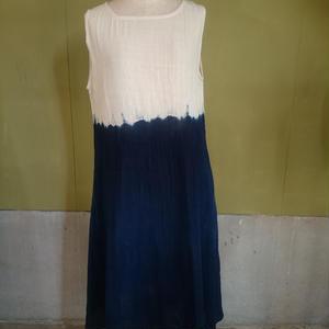 カディ藍染グラデーションドレス