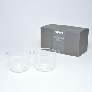 OWN thin glass old fashioned gift set