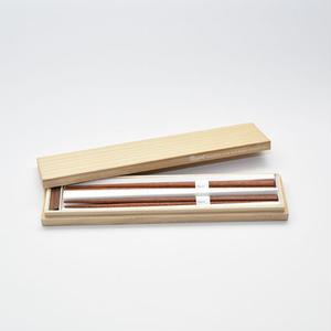 三角箸 マラス 箸置き付 桐箱 gift box
