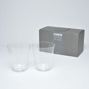 OWN thin glass tumbler gift set