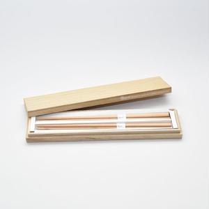 三角箸 ブナ 桐箱gift box
