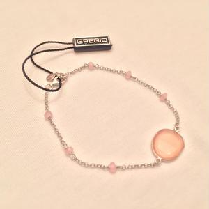 Gregio ブレスレット Iris one-stone Pink(Silver)