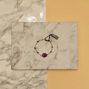 Gregio ブレスレット Iris one-stone Purple