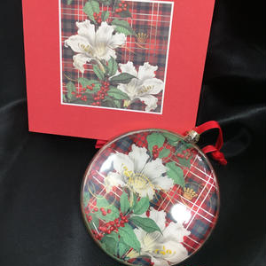 Fringe Studio Ornament Plaid Lily