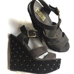 Top Shop Velvet Wedge  Sole  Sandals