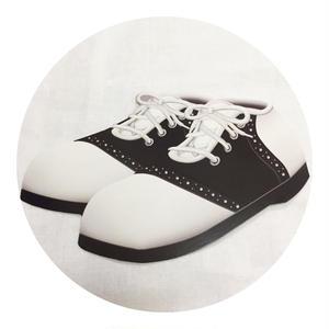 Rockabilly Icon Walldeco  Saddle Shoes