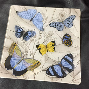 Fringe Studio Glass Tray Butterflies