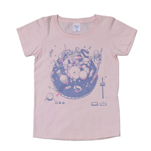 "sasakure.UK ""The Fantastic Diagram of Futuristic Playdreams"" T-SHIRT (PINK)"
