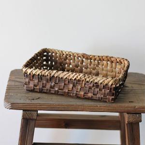 胡桃の置き籠(平) (クルミ/くるみ)  小物入れ オズのかごバッグ