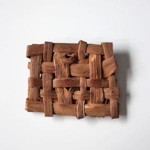 山葡萄の平編みブローチ ハンドメイド  国産樹皮(岩手県)