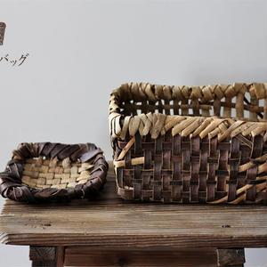 胡桃の置き籠と小皿カゴ 2点セット  オズのかごバッグ