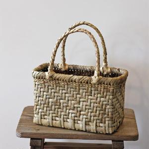 表皮 網代編み 胡桃のかごバッグ  (クルミ/沢くるみ/籠)  オズのかごバッグ