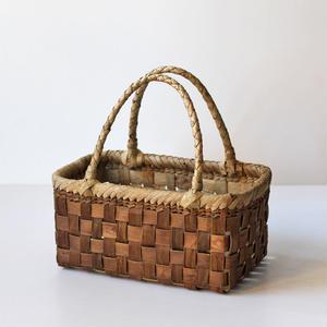 スクエア型  胡桃のかごバッグ  (クルミ/沢くるみ/籠)  オズのかごバッグ