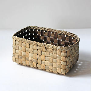 大き目/胡桃の整理かご 籠 (クルミ/沢くるみ)  小物入れ 暮らしの籠