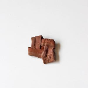山葡萄の畳織り ブローチ ハンドメイド  国産樹皮(岩手県)