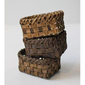 3個組 胡桃の整理かご 籠(小) (クルミ/沢くるみ)  小物入れ 暮らしの籠  生活雑貨
