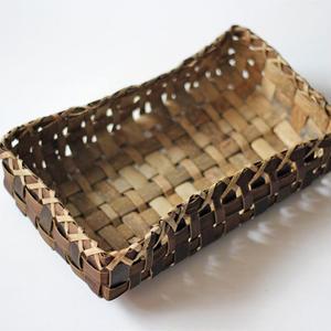 胡桃の置き籠(中) (クルミ/くるみ)  小物入れ オズのかごバッグ