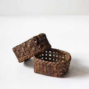 2個組 胡桃の整理かご 籠(小) (クルミ/沢くるみ)  小物入れ 暮らしの籠