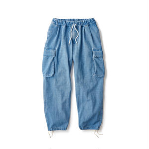 Washed Denim Relax Cargo Trouser