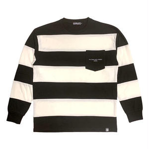 Border pocket long T-shirt