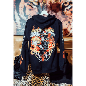 【OMOCAT×KUROBLOOD】Foxfire/狐火 Zip-Hoodie