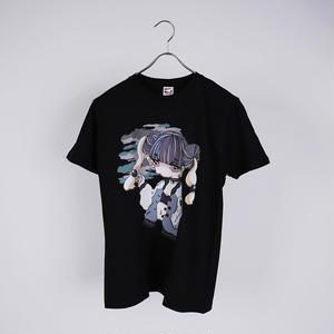 【Riho Kurokawa】スカした女Tシャツ《BLK》