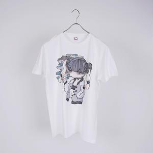 【Riho Kurokawa】 スカした女Tシャツ《WHT》