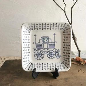 1960sAito陶器・正方形小皿13.5cm