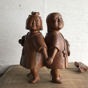 愛嬌のある置物(木製)21cm