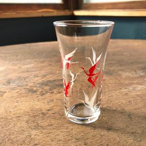 鶴のモダン冷酒グラス
