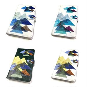Android手帳型ケース/S,Mサイズ★10日でお届け【山】(レ・モンターニュ)【全5色】