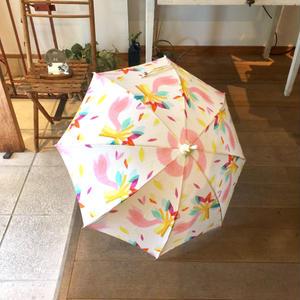 【鳥】(ロワゾ)日傘【全2色】(手元:白木)