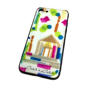 ★10日でお届け【図書館】(ビブリオテーク)iphone XS/X/7/8 背面ガラスケース