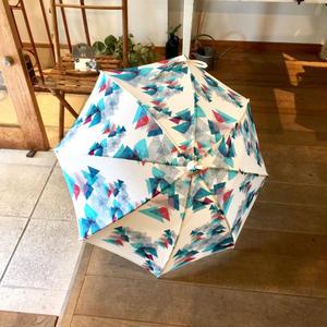 【山】(レ・モンターニュ)【エメラルド】日傘(手元:竹)