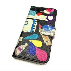 ★10日でお届け【新柄*文房具】【全2色】iphoneXR/XSMax/8 plus/ 7 plus/6 plus/6S plus手帳型ケース