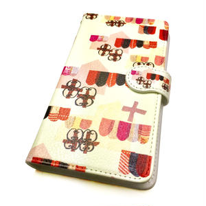 Android手帳型ケース/S,Mサイズ★10日でお届け【チロル】