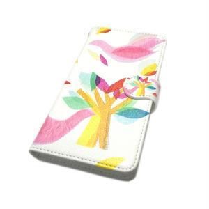 Android手帳型ケース/S,Mサイズ★10日でお届け【鳥】(ロワゾ)【全3色】