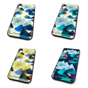 【山】(レ・モンターニュ)【全4色】【10日後発送】iphone Xスマートフォン背面ガラスケース