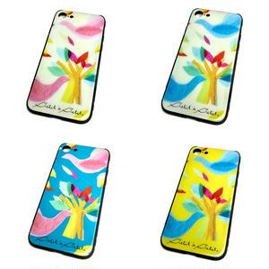 【鳥】(ロワゾ)【全4色】【10日後発送】iphone7・8 スマートフォン背面ガラスケース