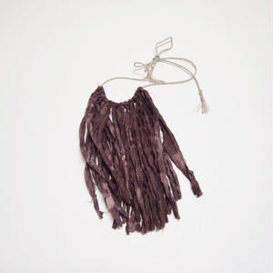 Cathy Callahan / 9inch Linen Fringe Necklace